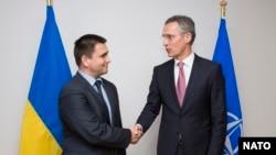 Генеральный секретарь НАТО Йенс Столтенберг и министр иностранных дел Украины Павел Климкин
