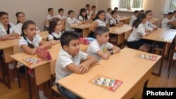 Armenia - Schoolchildren in Yerevan.