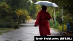 Осень в Бишкеке.