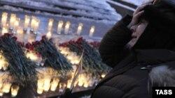 """Акция в память о жертвах теракта в """"Домодедово"""", прошедшая в Москве 27 января"""