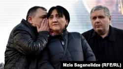 Ирма Инашвили на акции протеста в Тбилиси (архив)