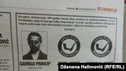 Čitulja Gavrilu Principu