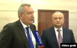 Dmitri Rogozin cu Igor Dodon la Moscova