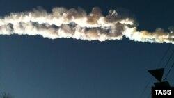 Падение осколков метеорита в Челябинской области