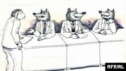 طرحی از رشید شریف، کاریکاتوریستی از جمهوری آذربایجان