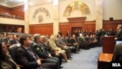 Pamje gjatë një seance të mëparshme të Parlamentit të Maqedonisë