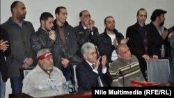 زعيم التيار الشعبي حمدين صباحي أثناء إعلان ترشحه لخوض إنتخابات الرئاسة في مصر