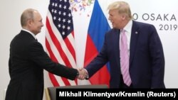 Ճապոնիա - ԱՄՆ և Ռուսաստանի նախագահները հանդիպում են Մեծ քսանյակի գագաթնաժողովի շրջանակում, Օսակա, 28-ը հունիսի, 2019թ․