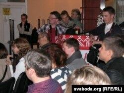 Сярод слухачоў у залі быў заўважаны Генадзь Грушавы