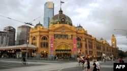 The attack took place near Melbourne's Flinders Street Station. (file photo)