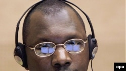 Congolese militia leader Thomas Lubanga at a 2007 hearing in The Hague