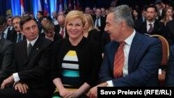 Borut Pahor, Kolinda Grabar Kitarović i Milo Đukanović na Forumu