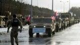 Soldaţi americani la o ceremonie la graniţa polono-germană în localitatea Olszyna, 12 ianuarie 2017