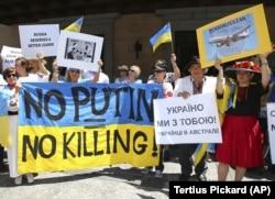Австралія: протести під час саміту G-20 проти російської агресії проти України.20 листопада 2015 року.