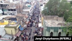India, pamje nga Laard Bazaar, qytet i vjetër.