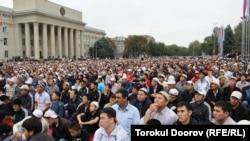 Бишкектеги Орозо айт намазы, 30-август, 2011-жыл