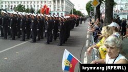 Репетиція військового параду в Сімферополі, 20 червня 2020 року