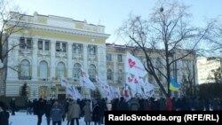 Пікет під стінами Київського районного суду Харкова