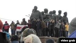 """Митинг против """"налога на тунеядство"""", Витебск, 26 февраля"""