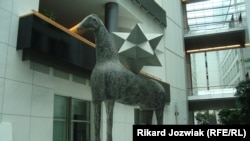 """Silvio's Horse"" at the European Parliament -- the nickname is derived from a certain Italian prime minister."
