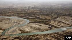 بخشهایی از رود هیرمند (هلمند) در ولایت هلمند افغانستان