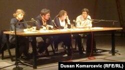 Učesnici tribine o Prvom svetskom ratu: Olga Manojlović Pintar, Srđan Milošević, Irena Javorski i Danilo Šarenac
