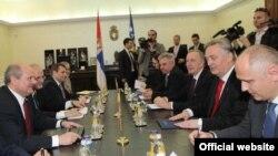 Sastanak delegacija ministarstava spoljnih poslova BiH i Srbije, Beograd, 12. april 2013.