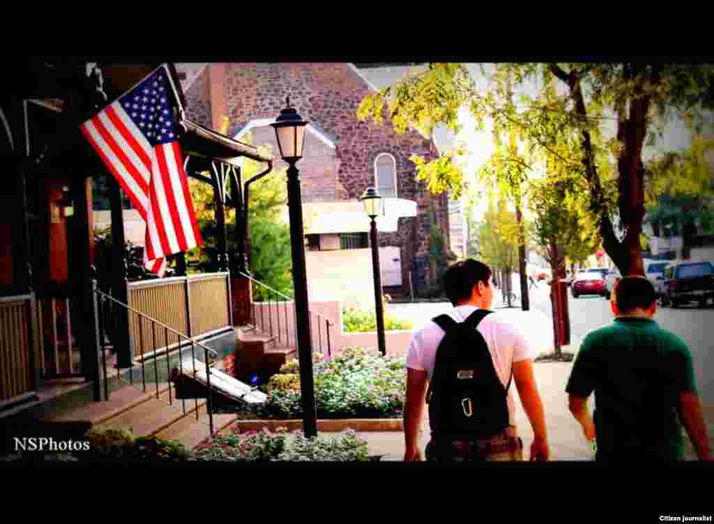 """Казахские студенты, обучающиеся в Филадельфии по стипендии """"Болашак"""". Прислал Нуржан Сейлхан."""