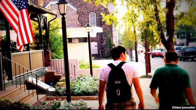 Филадельфия қаласындағы Болашақ бағдарламасы бойынша білім алып жатқан қазақ студенттер. Нұржан Сейілхан түсірген сурет