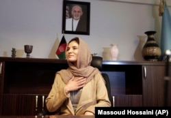 Hosna Jalil, seen here at the Interior Ministry in Kabul on December 5, says she relishes the challenges of her new job and rejects her critics.
