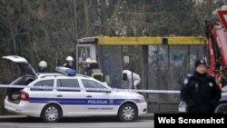 Mjesto eksplozije u Zagrebu, 11. siječnja 2013. Foto: Bruno Konjevic / CROPIX