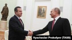 Ivica Dačić, šef diplomatije Srbije, i Vladimir Putin, predsednik Rusije, susret u Moskvi 19. decembar 2017.