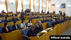 Tajikistan -- First session of new parliament of Tajikistan, Dushanbe city, 17Mar2015
