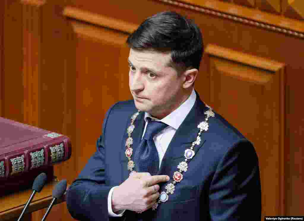 The new president immediately called for the dissolution of parliament and the dismissalof top security officials including Prosecutor-General Yuriy Lutsenko, the defense minister, and the head of the Security Service of Ukraine, all seen as Poroshenko loyalists.