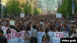 Protesti podrške CEU-u, Budimpešta