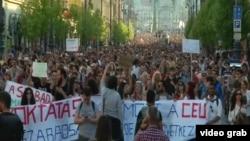 La demonstrația de duminică de la Budapesta