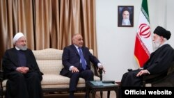 Adil Abdul-Mahdi, Iraqi PM meeting with Iran's supreme leather Ali Khamenei. April 6, 2019