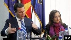 Архивска фотографија - Поранешниот премиер Никола Груевски и поранешната министерка за внатрешни работи Гордана Јанкулоска.