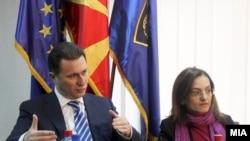Premijer Nikola Gruevski i ministarka unutrašnjih poslova Gordana Jankulovska