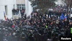 Молдова паралменті алдындағы наразылық акциясы. Кишинев, 20 қаңтар 2016 жыл.