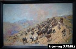 Картина Кязима Емінова. «Перегін стада» (1957 рік)