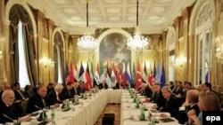 تصویر استفاده شده، مربوط به نشست پیشین وزیران خارجه در وین است