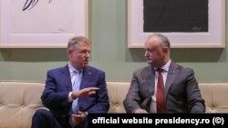 Klaus Iohannis și Igor Dodon