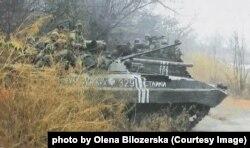 БТР 93-ї бригади, Опитне під Донецьким аеропортом. 6 листопада 2014 року