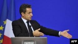 Францускиот претседател, Никола Саркози.