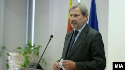 EU Commissioner for European Neighborhood Policy & Enlargement Negotiations Johannes Hahn (file photo)