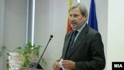 EU Commissioner for European Neighborhood Policy & Enlargement Negotiations Johannes Hahn (file photo)