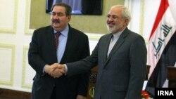 کنفرانس خبری مشترک محمدجواد ظریف و هوشیار زیباری، وزرای خارجه ایران و عراق، در تهران