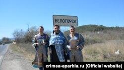 Участники крестного хода, Белогорск
