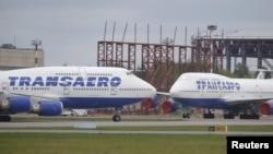 """Самолет Boeing 747 авиакомпании """"Трансаэро"""". Архивное фото"""